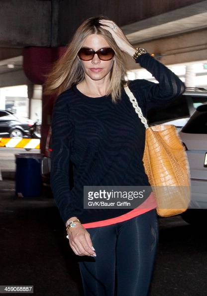 Sofia Vergara is seen at Los Angeles International Airport on July 07 2013 in Los Angeles California