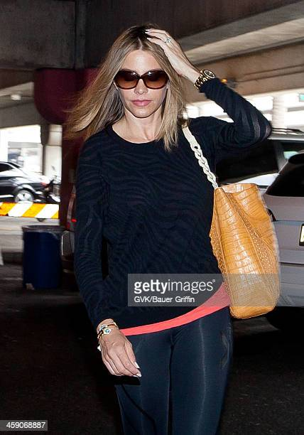 Sofia Vergara is seen at Los Angeles International Airport on July 07 2013 in Los Angeles California