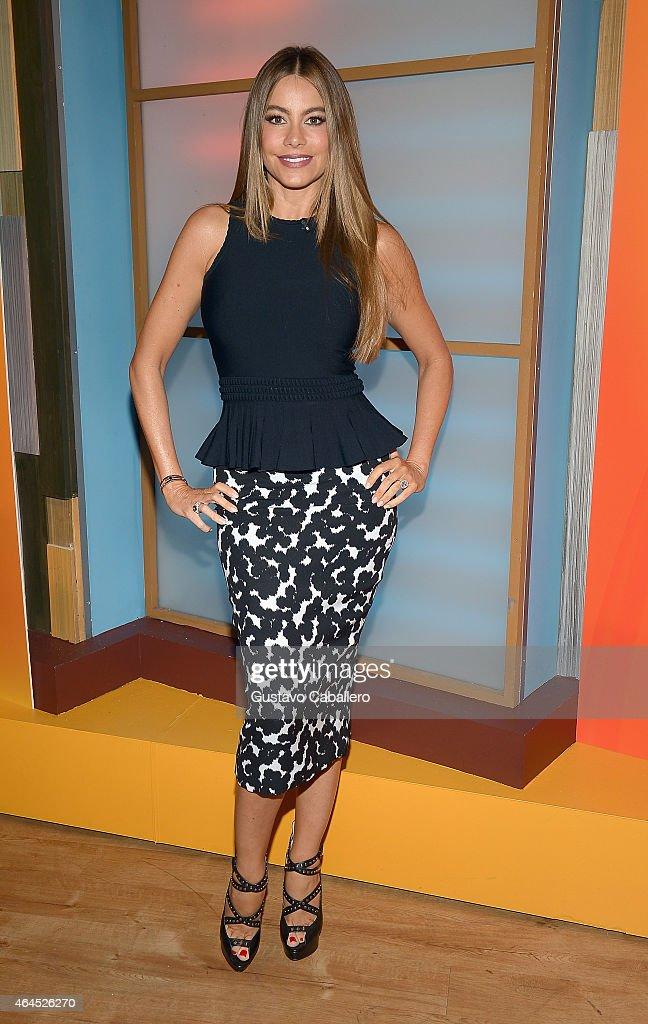 Sofia Vergara is seen on the set of Despierta America at Univision Studios on February 26 2015 in Miami Florida