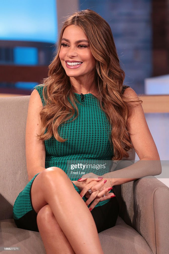 AMERICA - Sofia Vergara of ABC's 'Modern Family,' is a guest on 'Good Morning America,' 4/17/13, airing on the ABC Television Network on the ABC Television Network. SOFIA