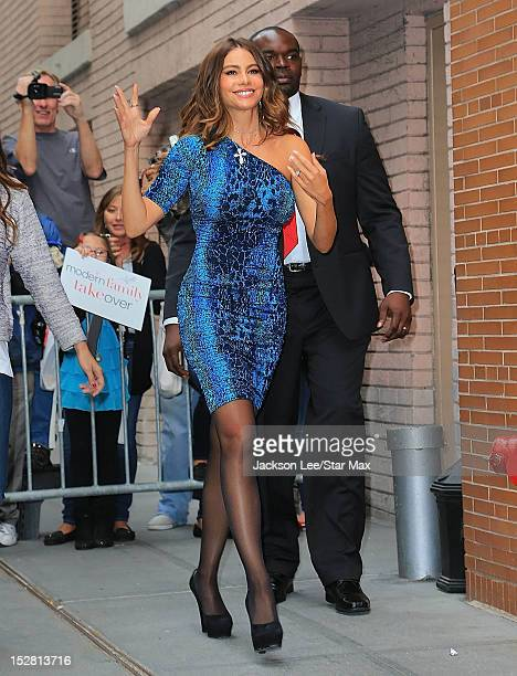 Sofia Vergara seen going to the set of 'The Chew' on September 26 2012 in New York City