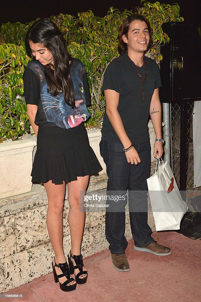 Sofia Vergara's son Manolo Gonzalez is seen at Prime 112 Steakhouse on January 2, 2013 in Miami Beach, Florida.