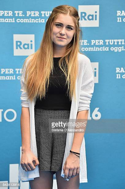 Sofia Viscardi attends Rai Show Schedule Presentation In Milan on June 28 2016 in Milan Italy