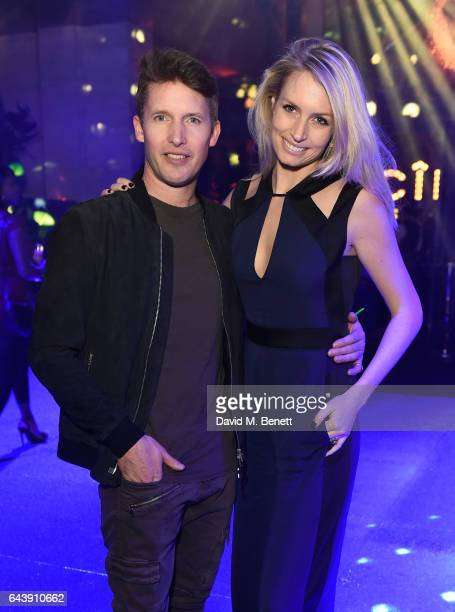 Sofia Wellesley and James Blunt attend The Warner Music Ciroc Brit Awards After Party on February 22 2017 in London England