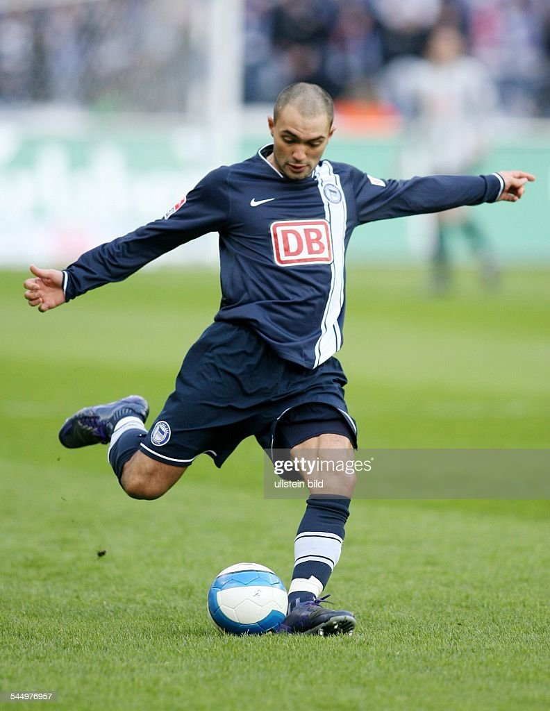 Sofian Chahed Football Defender Hertha BSC Berlin Germany in action on the ball