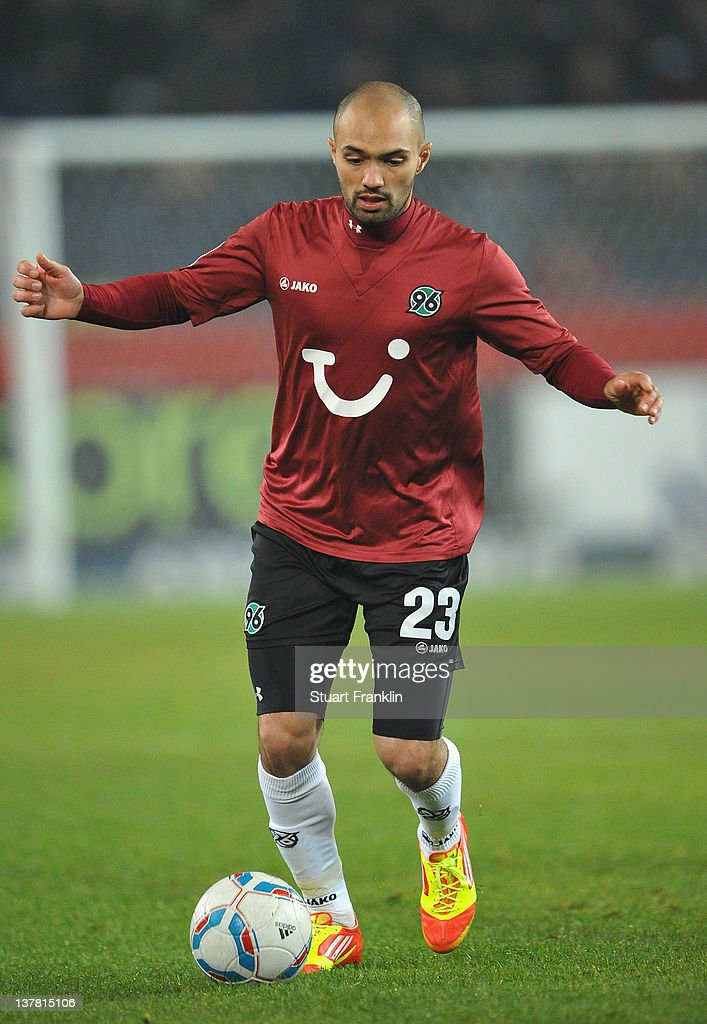 Sofian Chahed of Hannover in action during the Bundesliga match between Hannover 96 and 1 FC Nuernberg at AWD Arena on January 27 2012 in Hanover...