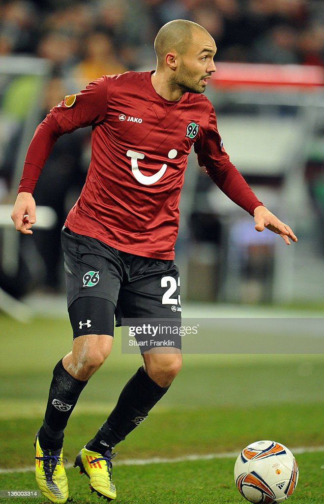 Sofian Chahed of Hannover in action during the UEFA Europa League match between Hannover 96 and FC Vorskla Poltava at AWD Arena on December 15 2011...