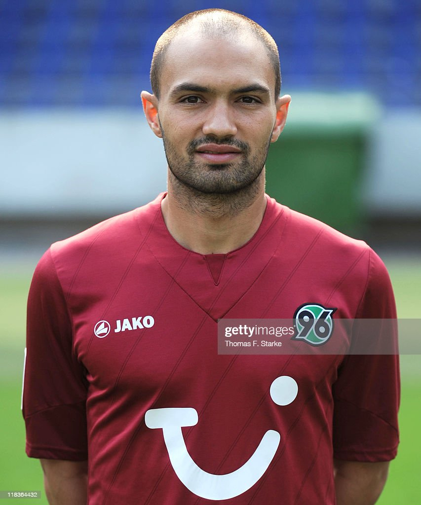 Sofian Chahed poses during the Hannover 96 Team Presentation at the AWD Arena on July 6 2011 in Hanover Germany