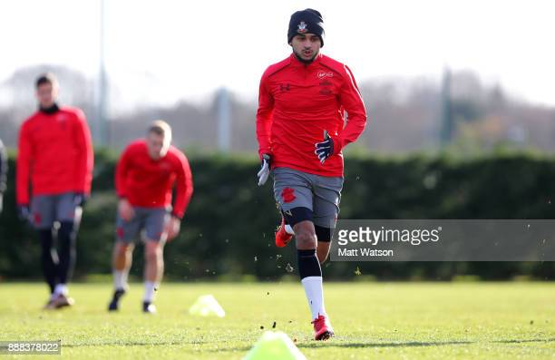 Sofiane Boufal during a Southampton FC training session at the Staplewood Campus on December 8 2017 in Southampton England