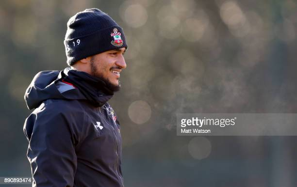 Sofiane Boufal during a Southampton FC training session at the Staplewood Campus on December 12 2017 in Southampton England
