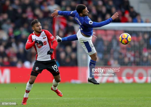 Sofiane Boufal of Soutahampton and Aaron Lennon of Everton in action during the Premier League match between Southampton and Everton at St Mary's...