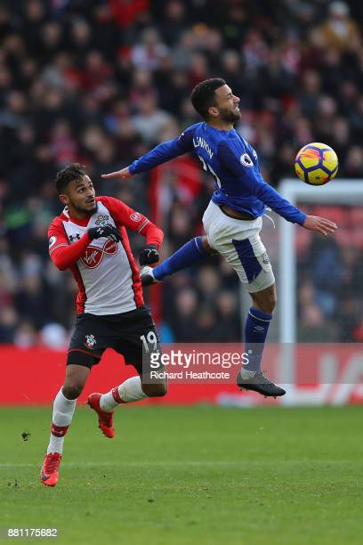 Sofiane Boufal of Southampton and Aaron Lennon of Everton in action during the Premier League match between Southampton and Everton at St Mary's...