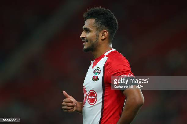 Sofiane Boufal of Southampton during the Carabao Cup Second Round match between Southampton and Wolverhampton Wanderers at St Mary's Stadium on...