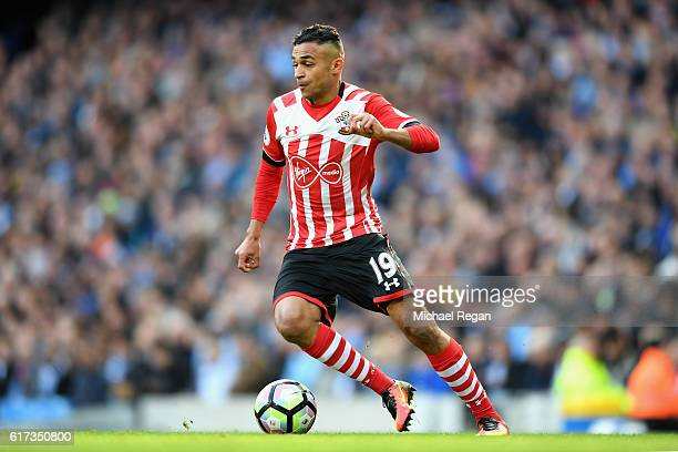 Sofiane Boufal of Southampton in action during the Premier League match between Manchester City and Southampton at Etihad Stadium on October 23 2016...