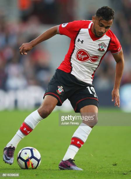 Sofiane Boufal of Southampton in action during the Premier League match between Southampton and Newcastle United at St Mary's Stadium on October 15...