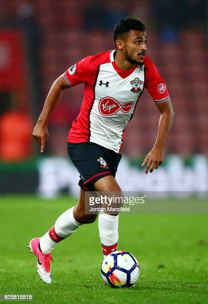 Sofiane Boufal of Southamton in action during the PreSeason Friendly match between Southampton and FC Augsburg at St Mary's Stadium on August 2 2017...