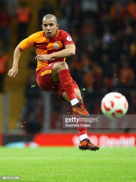 Sofiane Feghouli of Galatasaray during the Turkish Cup match between Galatasaray v Sivas Belediyespor at the Türk Telekom Stadyumu on November 28...