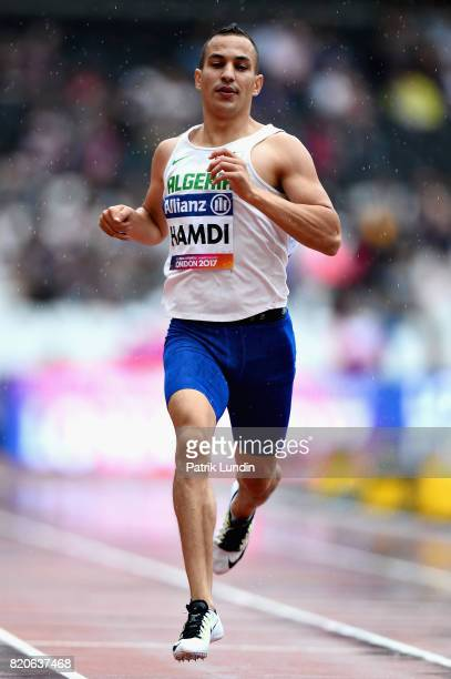 Sofiane Hamdi of Algeria competes in round one heat one of the Mens 400m T37 during day nine of the IPC World ParaAthletics Championships 2017 at...