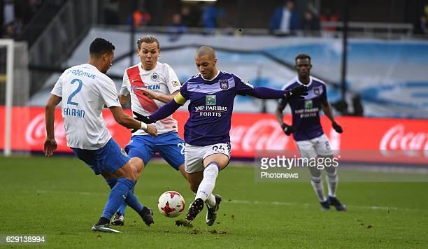 Sofiane Hanni midfielder of RSC Anderlecht during the Jupiler Pro League match between Club Brugge KV and RSC Anderlecht on December 11 2016 in...