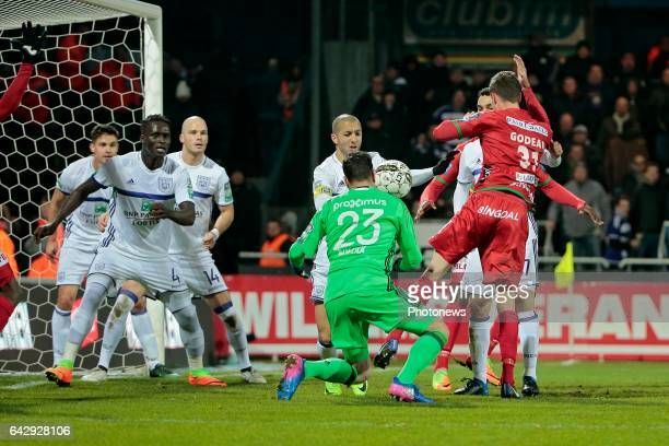 Sofiane Hanni midfielder of RSC Anderlecht during the Jupiler Pro League match between KV Oostende and RSC Anderlecht at the Versluys Arena on...
