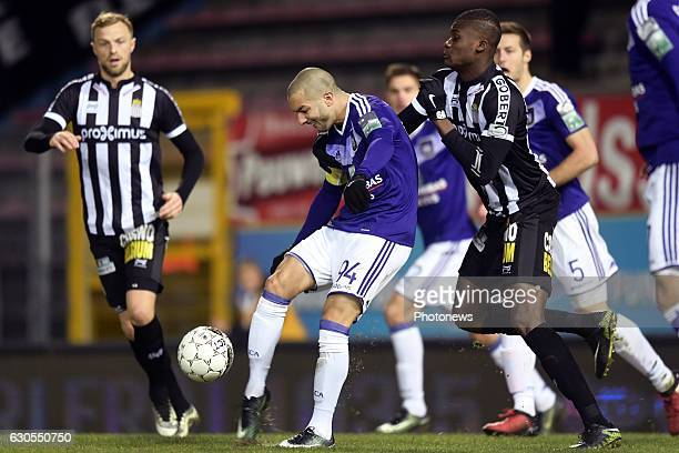 Sofiane Hanni midfielder of RSC Anderlecht in action during the Jupiler Pro League match between Royal Charleroi Sporting Club and RSC Anderlecht on...