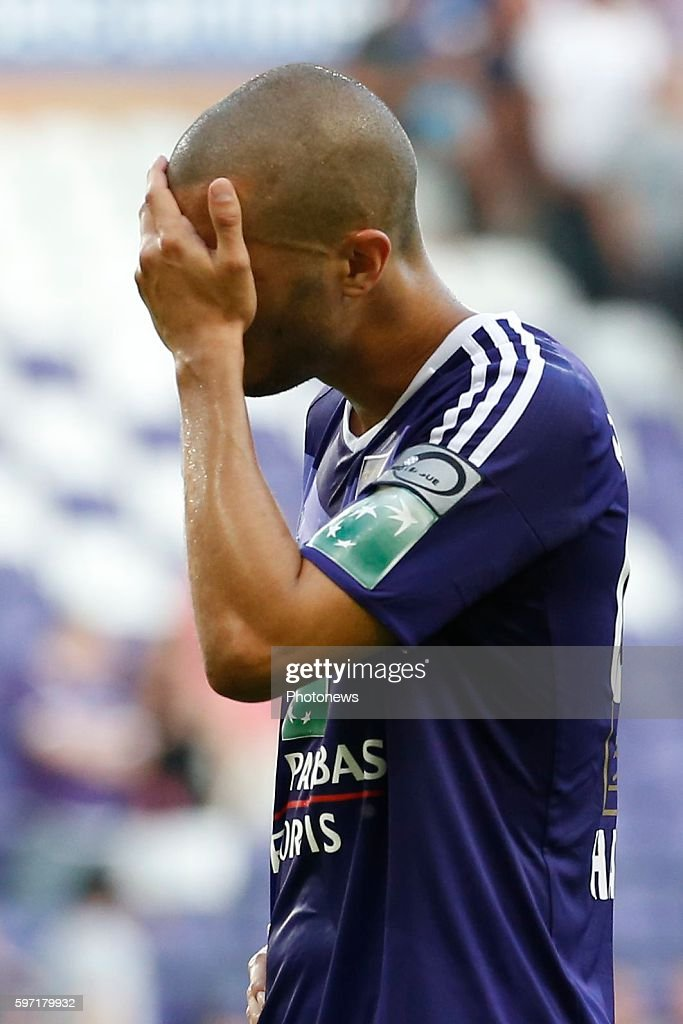 Sofiane Hanni midfielder of RSC Anderlecht pictured during Jupiler Pro League match between RSC Anderlecht and KAA Gent on August 28 2016 in Brussels...