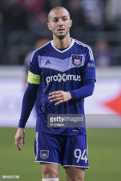 Sofiane Hanni of RSC Anderlechtduring the UEFA Europa League round of 16 match between RSC Anderlecht and APOEL on March 16 2017 at Constant Vanden...