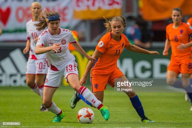 Sofie Junge Pedersen of Denmark women Lieke Martens of Holland Women during the UEFA WEURO 2017 final match between The Netherlands and Denmark at...