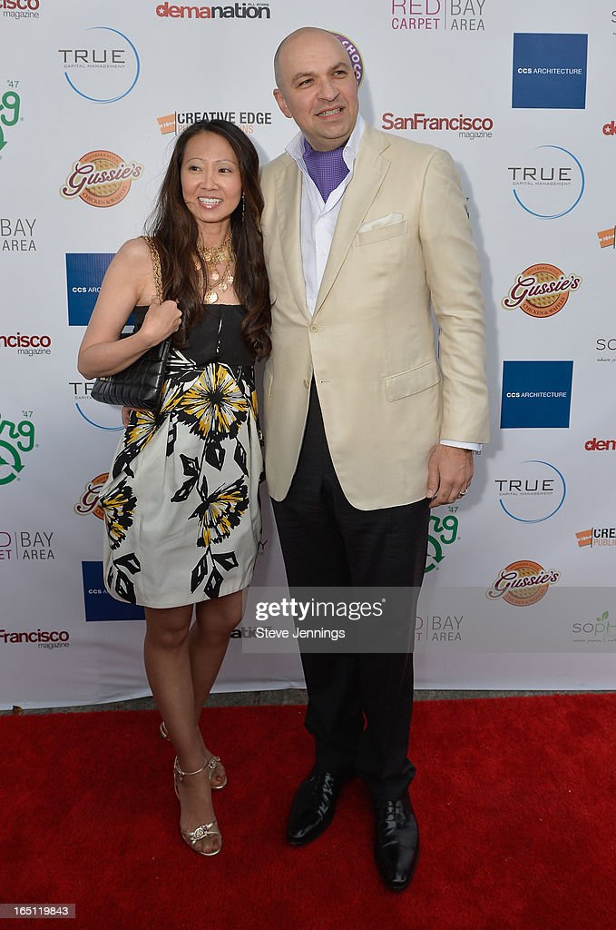 Sofie Mitchell and David Mitchell (L-R) attend the 6th Annual 'Where Hip Hop Meets Couture' Fashion Show at Dog Patch Wine Works on March 30, 2013 in San Francisco, California.
