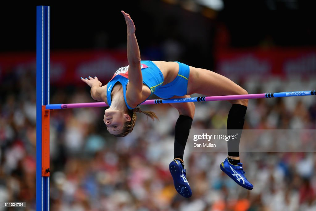 Sofie Skoog of Sweden competes in the Women's High Jump during the Muller Anniversary Games at London Stadium on July 9, 2017 in London, England.
