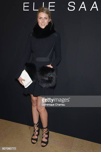 Sofie Valkiers attends the Elie Saab Haute Couture Spring Summer 2016 show as part of Paris Fashion Week on January 27 2016 in Paris France