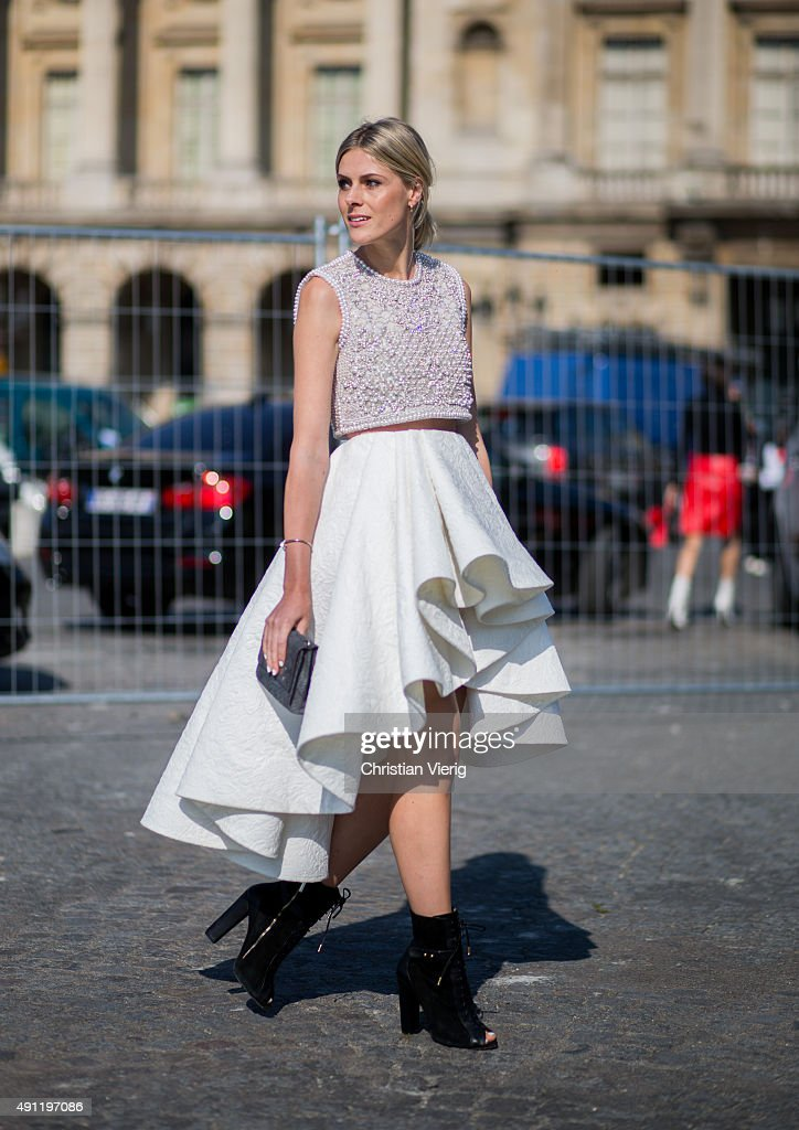 Sofie Valkiers during the Paris Fashion Week Womenswear Spring/Summer 2016 on October 3 2015 in Paris France