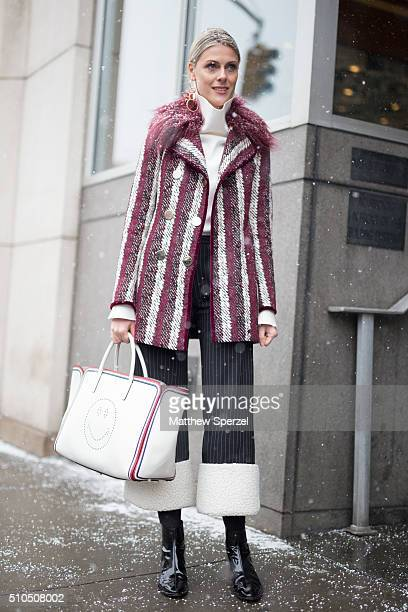 Sofie Valkiers is seen at Philip Lim during New York Fashion Week Women's Fall/Winter 2016 on February 15 2016 in New York City