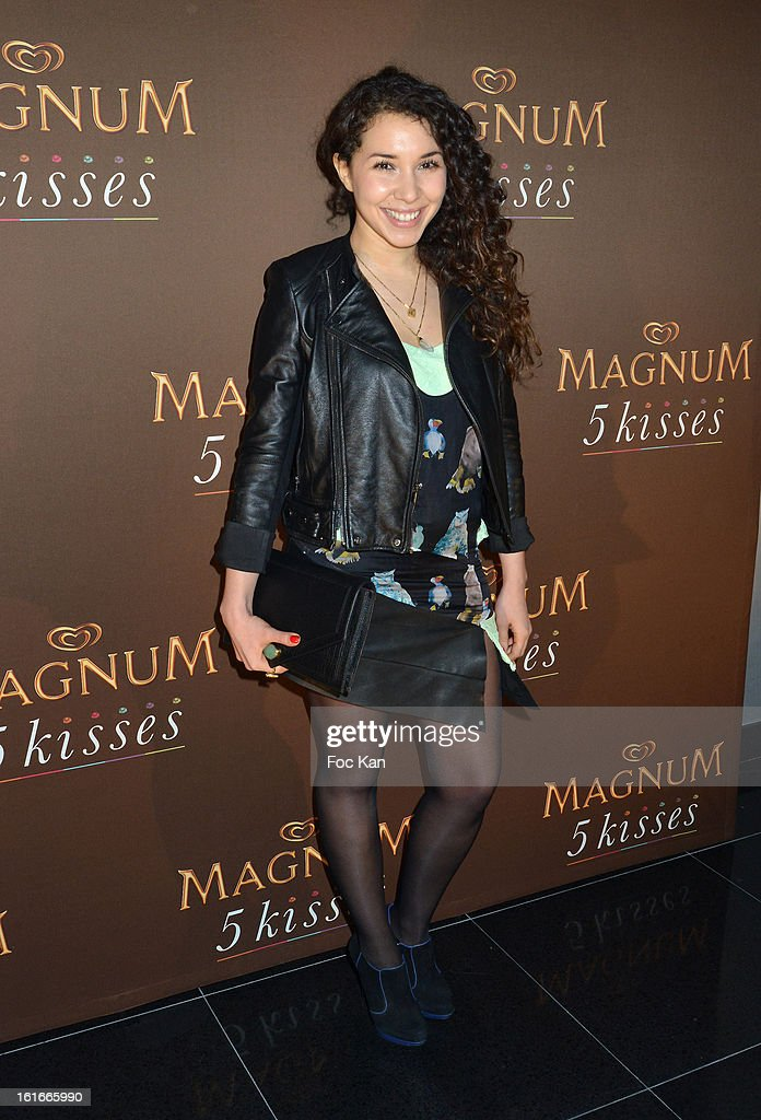 Sofiia Manousha attends 'Magnum Ice Creams' Party for Valentine's day at Pavillon Cambon Capucines on February 13, 2013 in Paris, France.