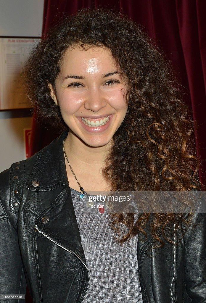 Sofiia Manousha attends the 'Par Amour' Paris Premiere at Studio 28 on sDecember 26, 2012 in Paris, France.