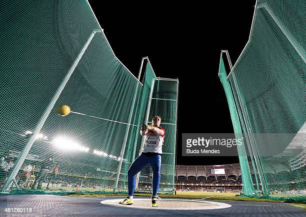 Sofiya Palkina of Russia in action during the Girls Hammer Throw Final on day four of the IAAF World Youth Championships Cali 2015 on July 18 2015 at...