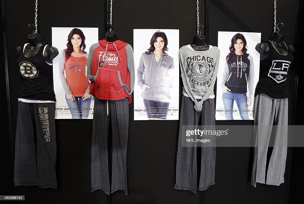 Soft as a Grape displays their line of women's clothing at the 2014 NHL Exchange at Pepsi Center on July 22, 2014, in Denver, Colorado.