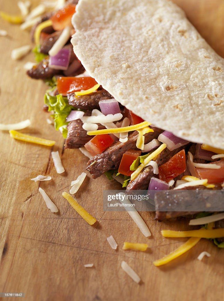 Soft Beef Taco : Stock Photo