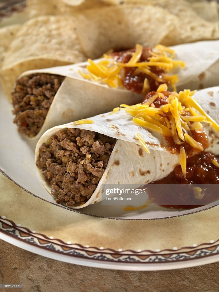 Soft Beef Tacos : Stock Photo
