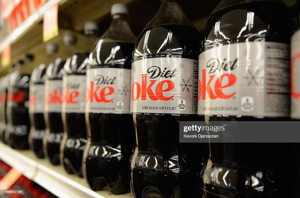 Soft drinks are displayed on the shelf of a local market on January 23, 2013 in Los Angeles, California. According to reports, carbonated soft drink sales declined in the second half of last year, as bottled waters, juices, sports drinks and coffee have replaced them. Although consumption of soda in the U.S. has been declining over the past eight years, soda makers had been able to raise prices enough to keep soda revenues growing.