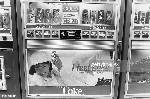A soft drinks vending machine in Tokyo February 1988