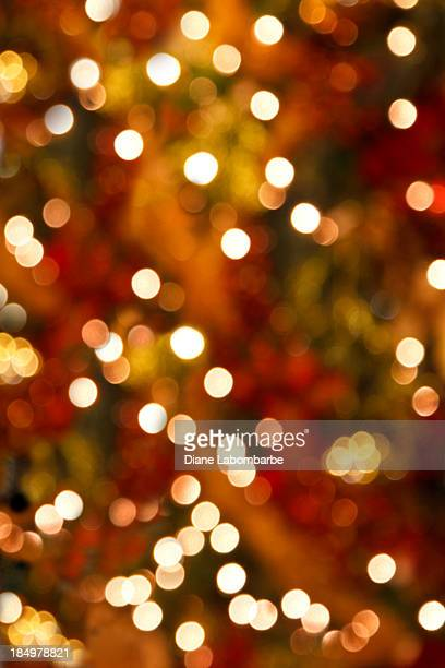 Soft Focus Christmas Tree Lights Vertical Background