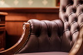Soft leather Armchair in his office
