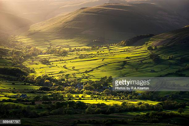 Soft light on a green valley