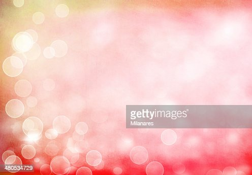 Soft Pink Bokeh Retro Background with Scratches : Stock Photo