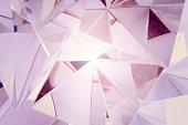 Soft pink gradient crystal, studio shot.