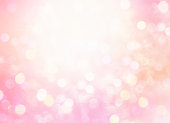 Soft pink glitter splash blurred bokeh.Holiday defocused lights.Christmas illustration.Spring illuminated wallpaper.
