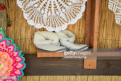 Soft room winter slippers : Stockfoto