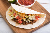 soft shell beef tacos