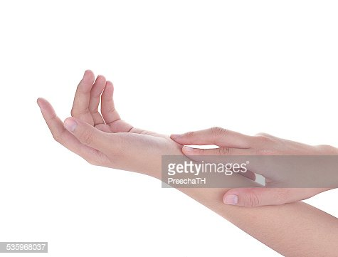 soft touch female hand isolated white background : Stock Photo